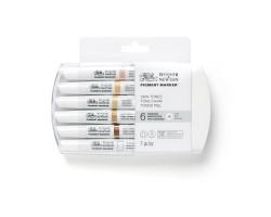 Набор маркеров Winsor Newton Pigment Marker 6 шт. ТЕЛЕСНЫЕ ТОНА