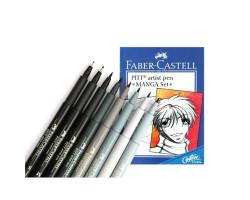 Лайнеры Капиллярная ручка-кисть Faber Castell в Наборе 8 шт. BRUSH MANGA 167107