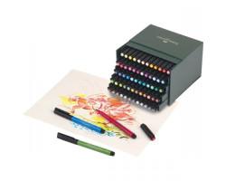 Капиллярная ручка-кисть Faber Castell 60 цветов PITT BRUSH в коробке 167150