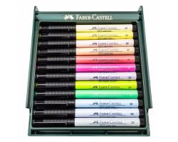 Лайнеры Капиллярная ручка-кисть Faber Castell в Наборе BRUSH 12 шт. PASTEL 267420