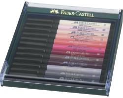 Лайнеры капиллярная ручка-кисть Faber Castell в Наборе BRUSH 12 шт. ТЕЛЕСНЫЕ ОТТЕНКИ 267424