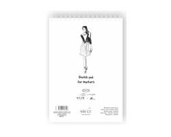 Альбом для маркеров на спирали AUTHENTIC А3, 100г/м2, 50л, белый цвет, SMILTAINIS