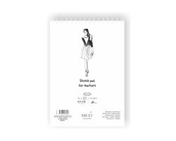 Альбом для маркеров на спирали AUTHENTIC А4, 100г/м2, 50л, белый цвет, SMILTAINIS